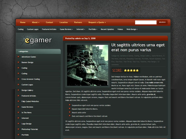 eGamer-1 - 36+ Top Quality WordPress Gaming Themes [year]