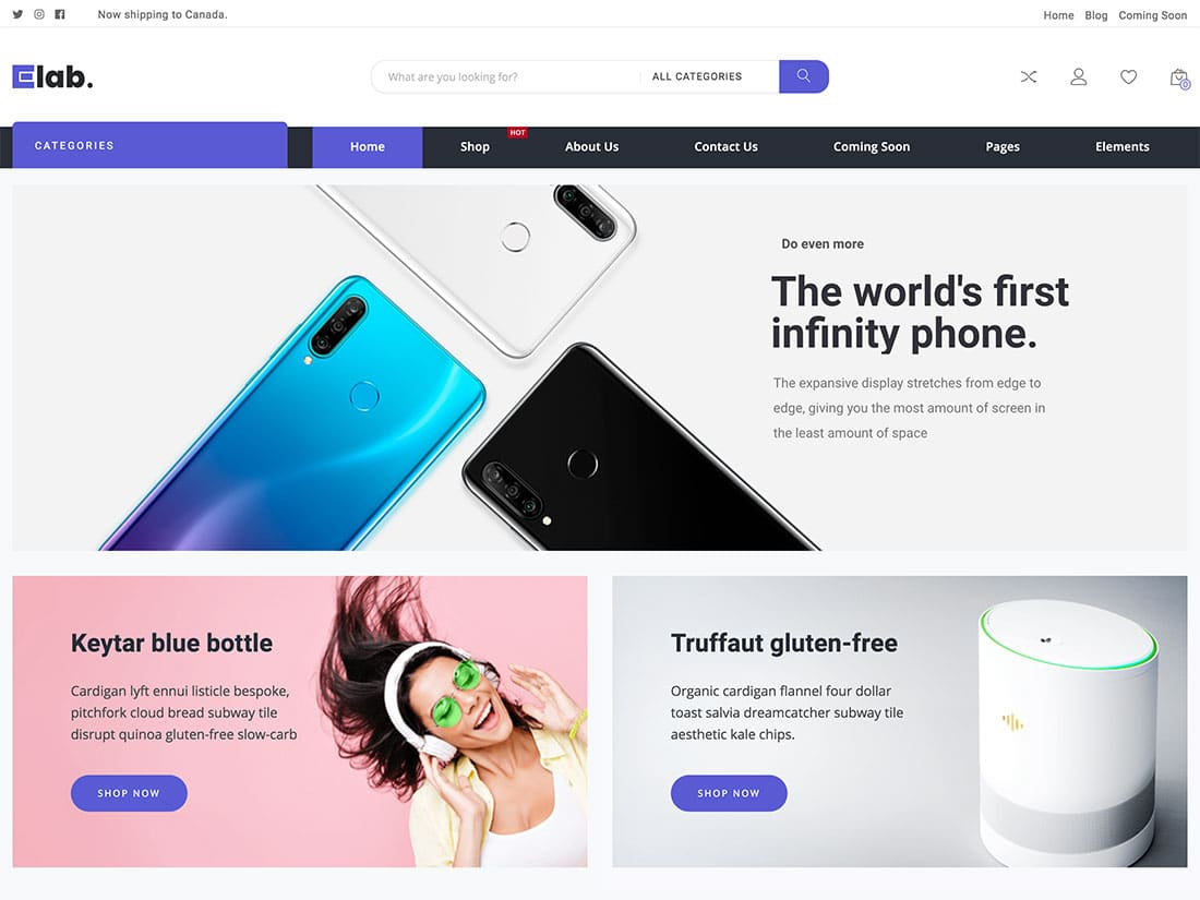 eLab-1 - 36+ Top WordPress Themes For Ecommerce [year]