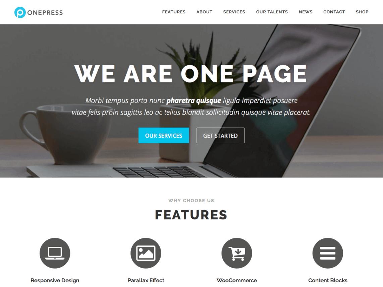 onepress - 46+ Best Free WordPress One Page Themes [year]