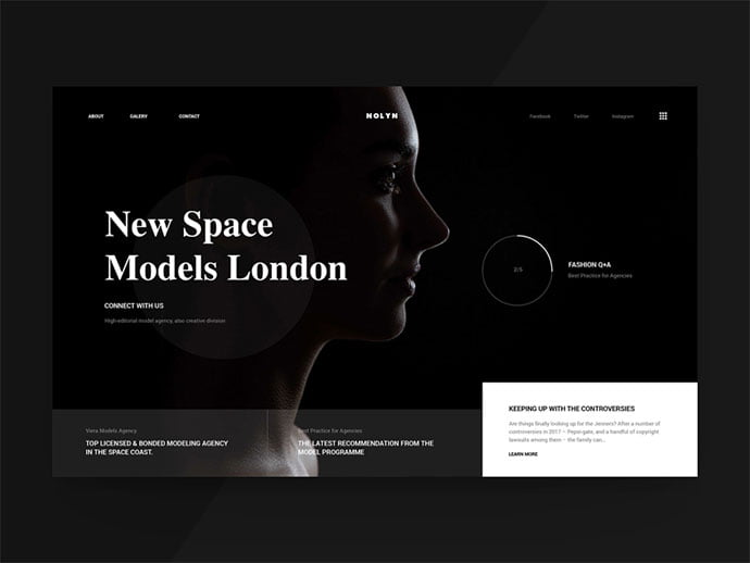 111-2 - 63+ Incredible Free Black & White Web UI Designs [year]