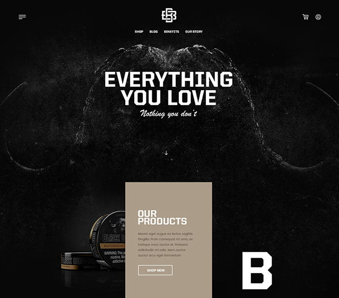 222-2 - 63+ Incredible Free Black & White Web UI Designs [year]