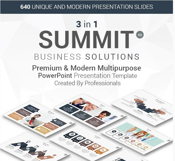 3-in-1-Summit - 36+ Awesome Abstract PowerPoint Templates Download [year]