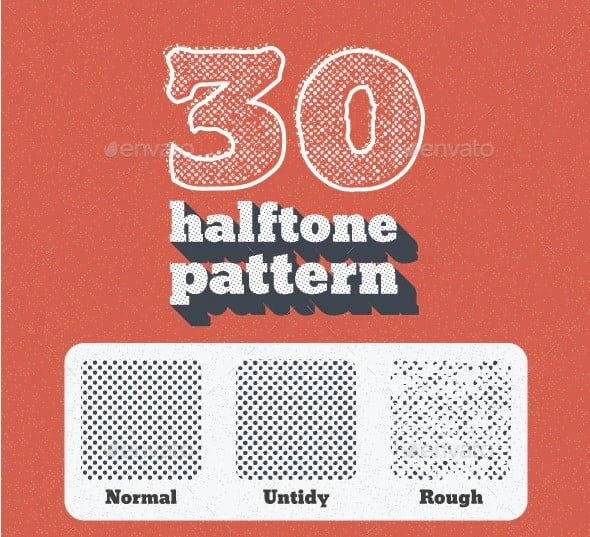 30-Seamless-Tiled-Halftone-Patterns - 40+ Nice Halftone Showcase Designs Template [year]