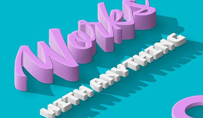3D-Isometric-Photoshop-Action - 36+ Amazing Fun & Playful Typography Photoshop Text Effects [year]