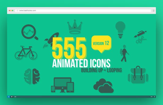 555-Animated-Icons - 34+ Amazing After Effects Templates For Video Maker [year]