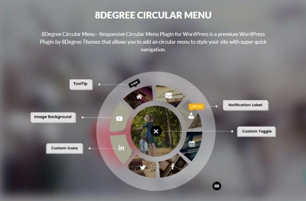 8Degree-Circular-Menu