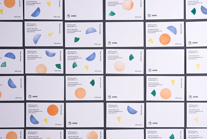 Afre - 36+ Impressive Business Card Designs With Visual Impact [year]