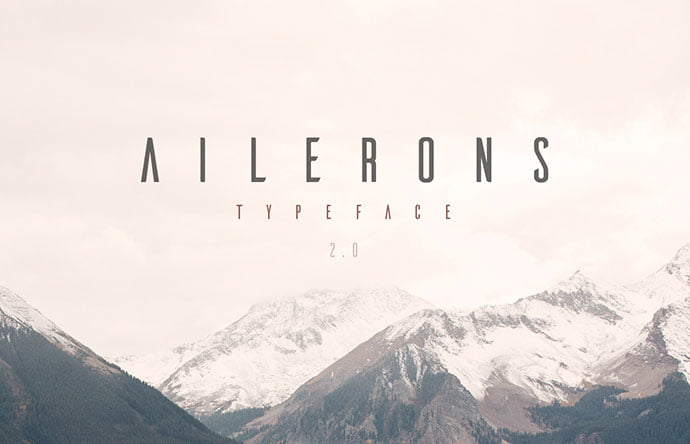Ailerons - 38+ Free Pretty Headline Fonts For Designer [year]