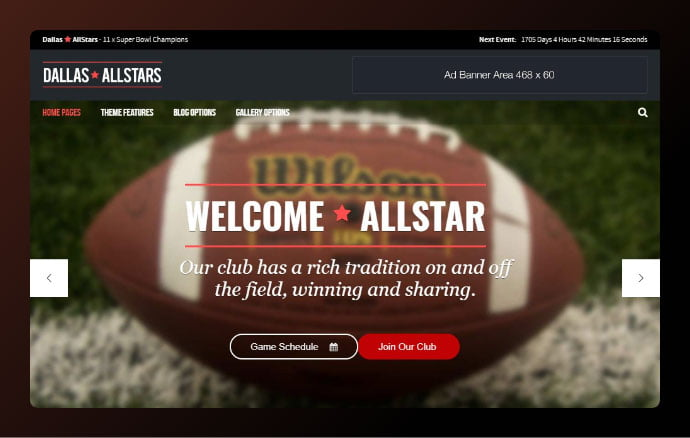 AllStar - 34+ Awesome WordPress Club Themes to Create Your Website [year]