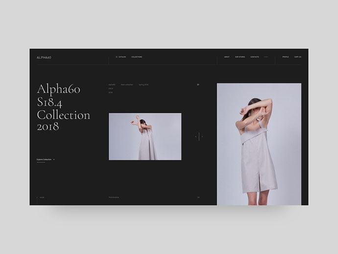 Alpha60 - 63+ Incredible Free Black & White Web UI Designs [year]