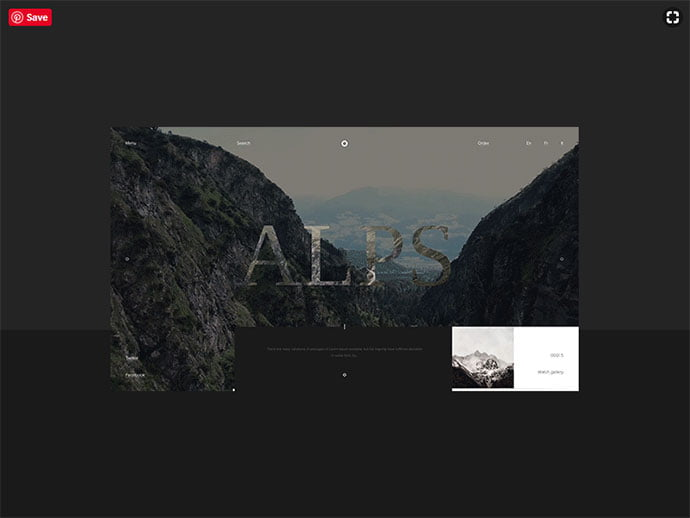 Alps-–-scroll-animation - 63+ Incredible Free Black & White Web UI Designs [year]