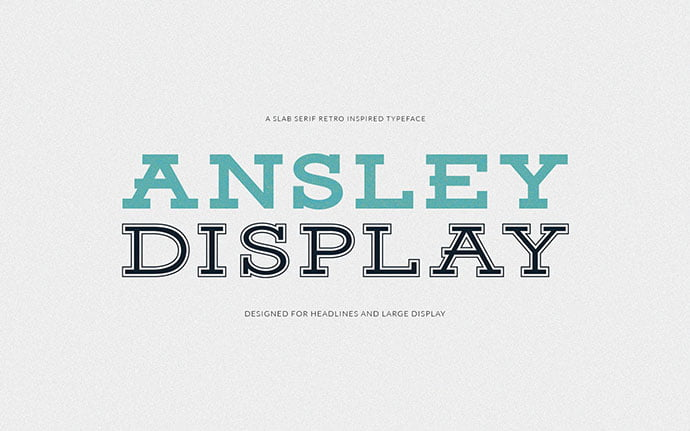Ansley-Display - 38+ Free Pretty Headline Fonts For Designer [year]