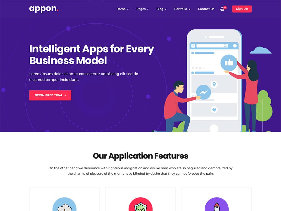 Appon - 40+ Nice WordPress Themes For App Showcase [year]