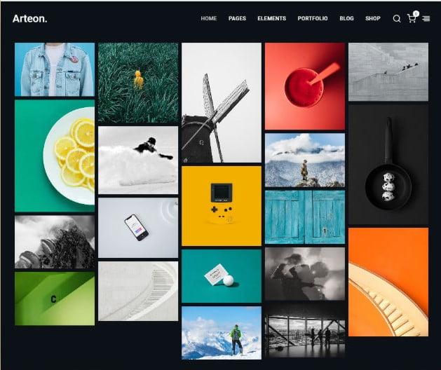 Arteon - 35+ Lovely WordPress Elementor Portfolio Themes [year]