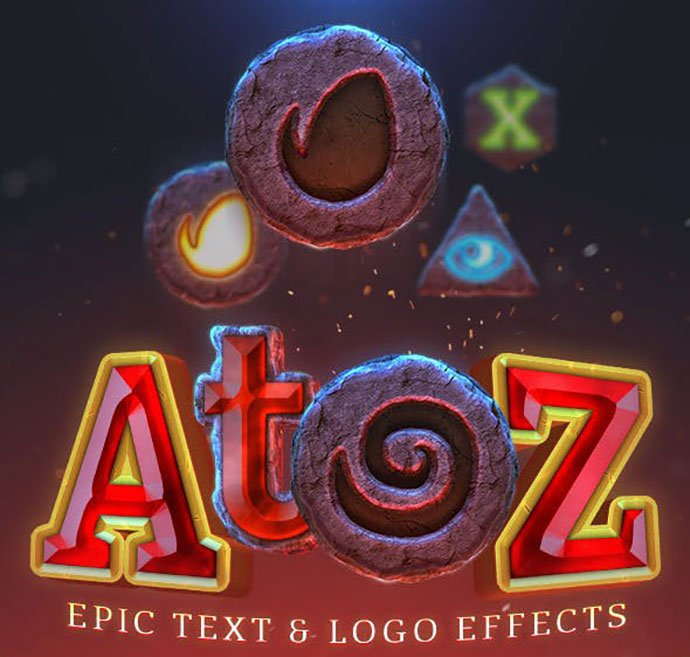 AtoZEpic-Text-Logo-Effect - 36+ Amazing Fun & Playful Typography Photoshop Text Effects [year]