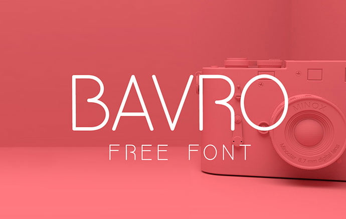 BAVRO-FREE-FONT - 38+ Free Pretty Headline Fonts For Designer [year]