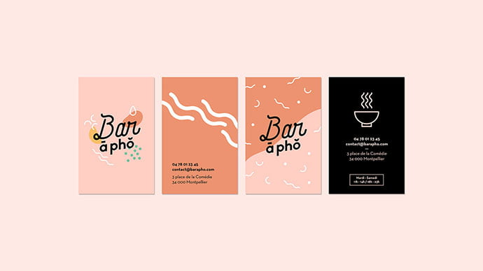 Bar-a-Pho - 36+ Impressive Business Card Designs With Visual Impact [year]