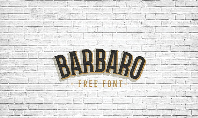 Barbaro-Font - 38+ Free Pretty Headline Fonts For Designer [year]