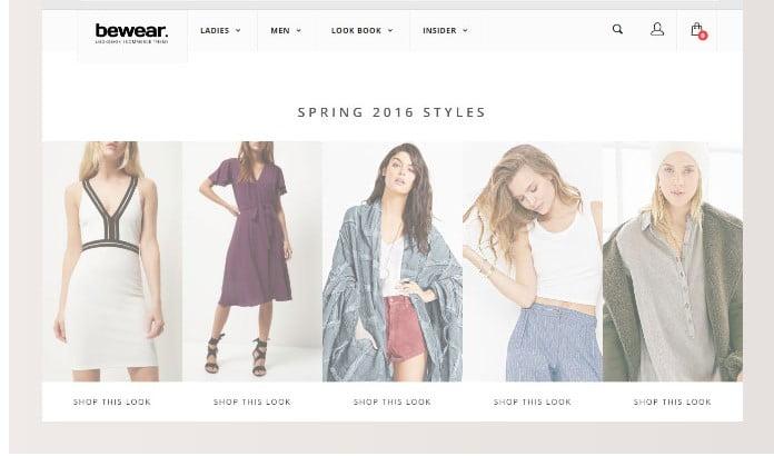 Bewear - 51+ Awesome WordPress Lookbook Ecommerce Themes [year]