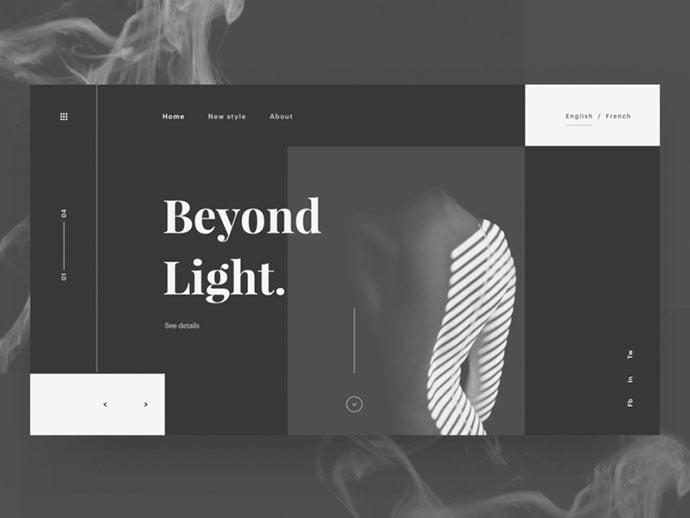 Beyond-Light - 63+ Incredible Free Black & White Web UI Designs [year]