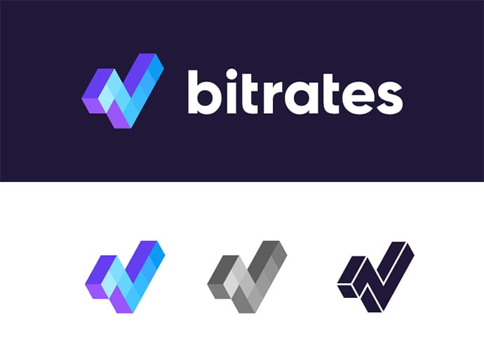 Bitrates - 38+ Lovely Isometric Logo Design Sample [year]