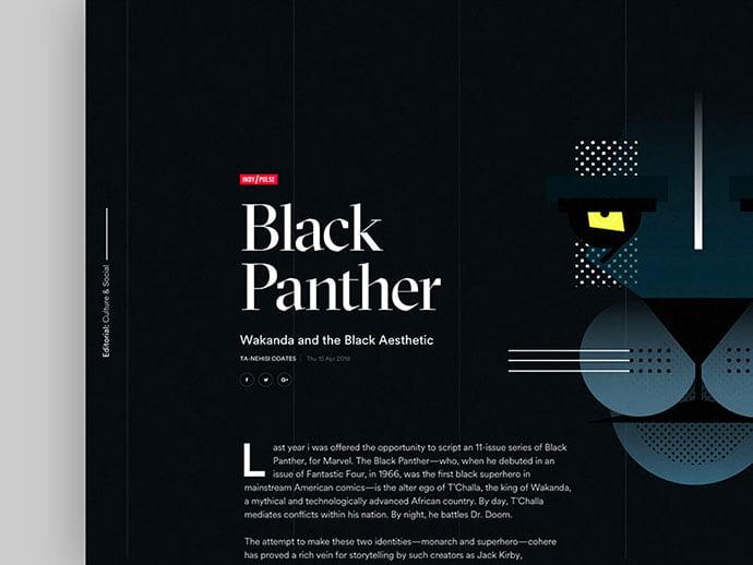 Black-Panther - 63+ Incredible Free Black & White Web UI Designs [year]