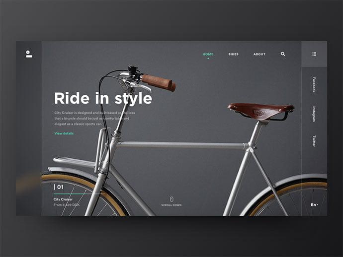 Black-Ride - 63+ Incredible Free Black & White Web UI Designs [year]