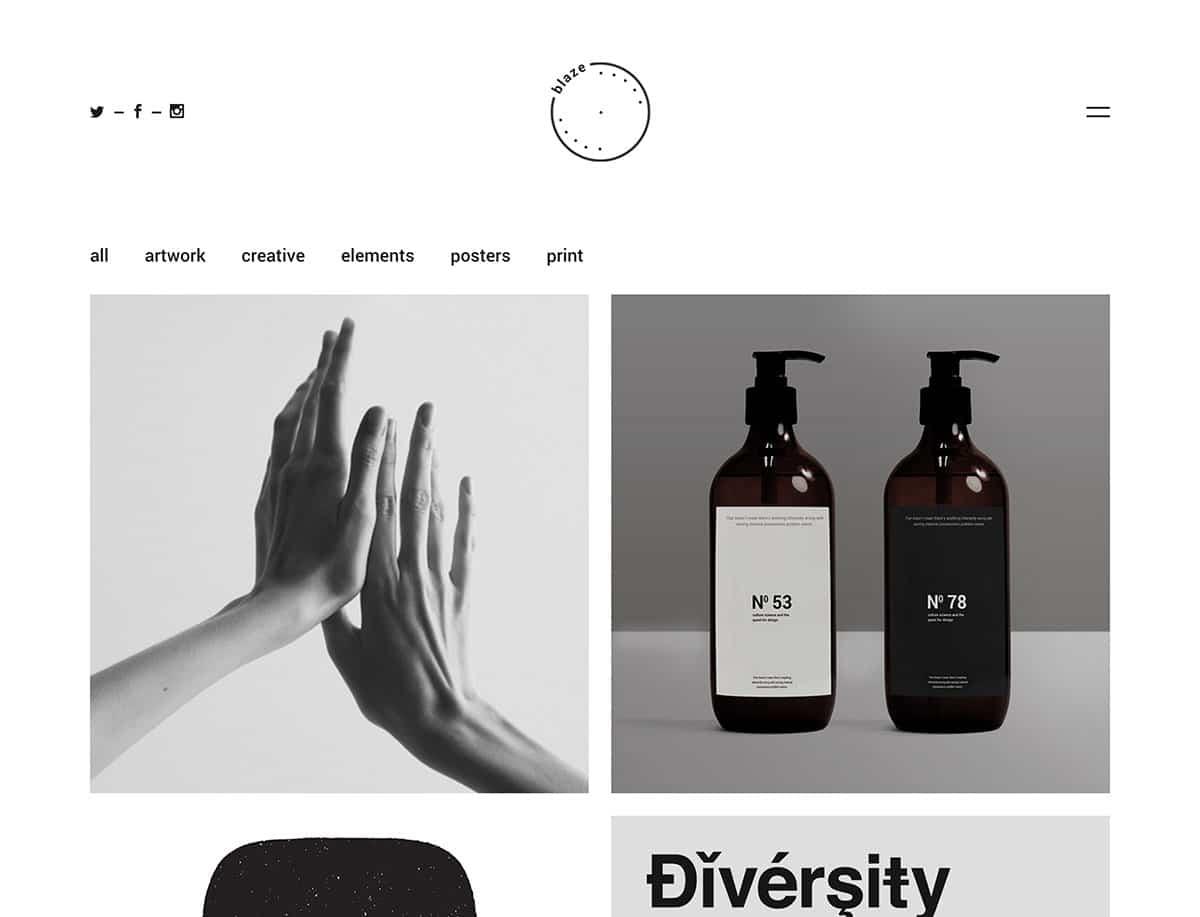 Blaze - 31+ Amazing Artists WordPress Themes [year]
