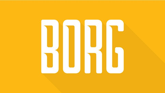 Borg - 38+ Free Pretty Headline Fonts For Designer [year]