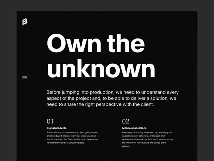 Bornfight-Design-Variations-–-Part-I - 63+ Incredible Free Black & White Web UI Designs [year]