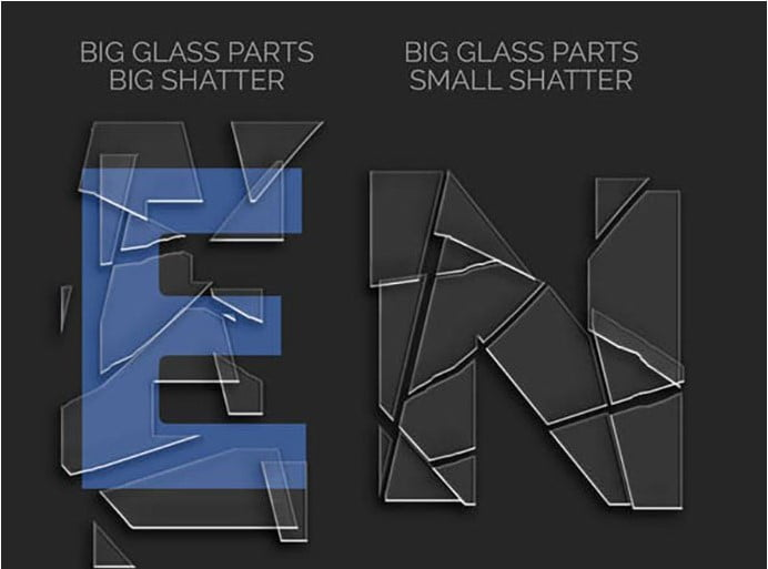 Broken-Glass - 36+ Amazing Fun & Playful Typography Photoshop Text Effects [year]
