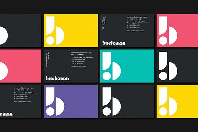 Buchanan - 36+ Impressive Business Card Designs With Visual Impact [year]