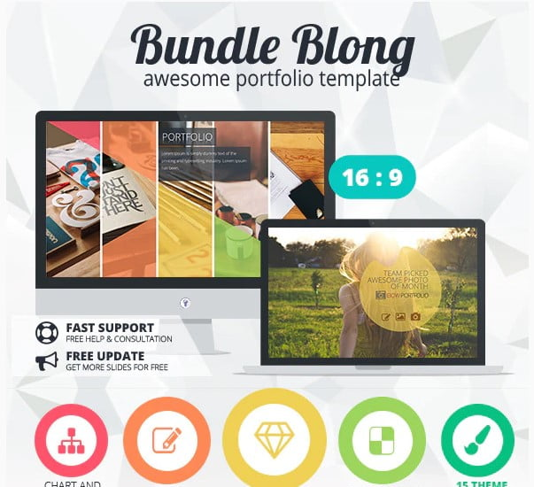 Bundle-Blong - 36+ Nice PowerPoint Portfolio Showcasing Templates [year]