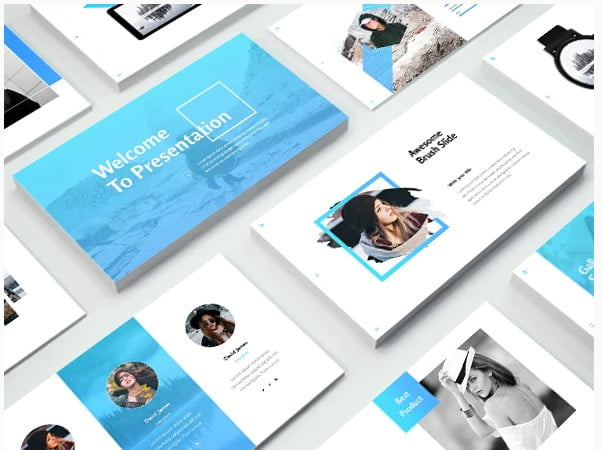 Business - 36+ Nice PowerPoint Portfolio Showcasing Templates [year]