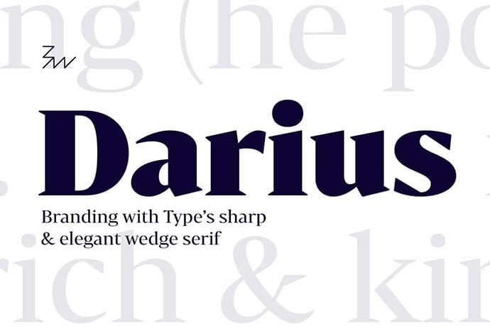 Bw-Darius-font-family