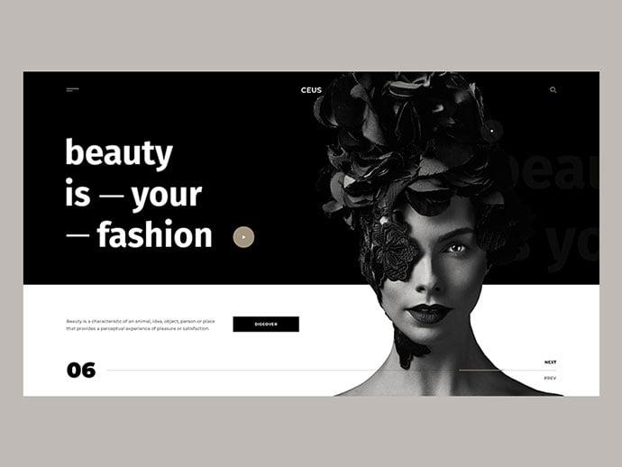 CEUS - 63+ Incredible Free Black & White Web UI Designs [year]