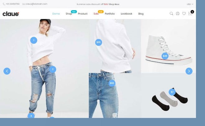 Claue-1 - 51+ Awesome WordPress Lookbook Ecommerce Themes [year]