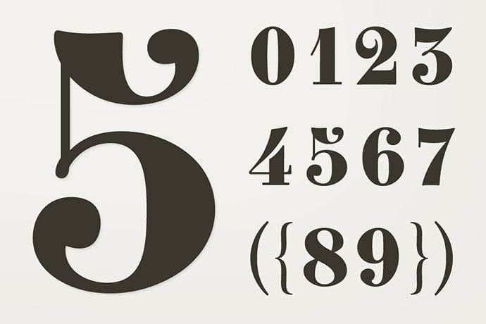 Clement-Numbers - 36+ Best Free Number Fonts For Graphic Designer [year]