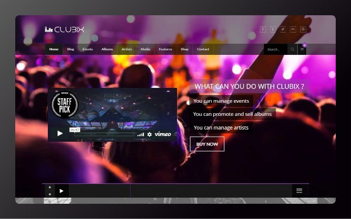 Clubix - 34+ Awesome WordPress Club Themes to Create Your Website [year]