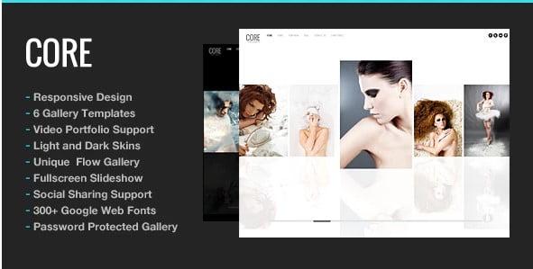 Core - 37+ Nice WordPress Photography Blog Themes [year]