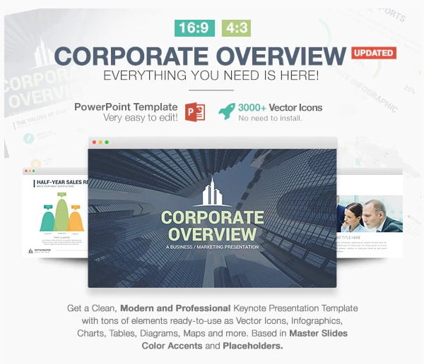 Corporate-Overview - 36+ Awesome Business PowerPoint Templates Download [year]