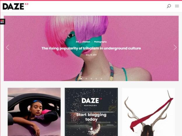 DAZE - 37+ Nice WordPress Photography Blog Themes [year]