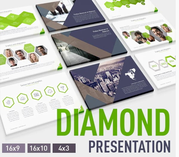 Discussion-on-Diamond - 36+ Amazing Finance PowerPoint Templates Download [year]