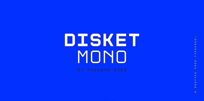 Disket-Mono-Free-Font - 36+ Fantastic Free Mono Fonts For Developer [year]