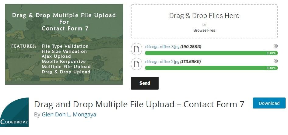 Drag-and-Drop-1 - 25+ Important WordPress File Uploader Plugins [year]