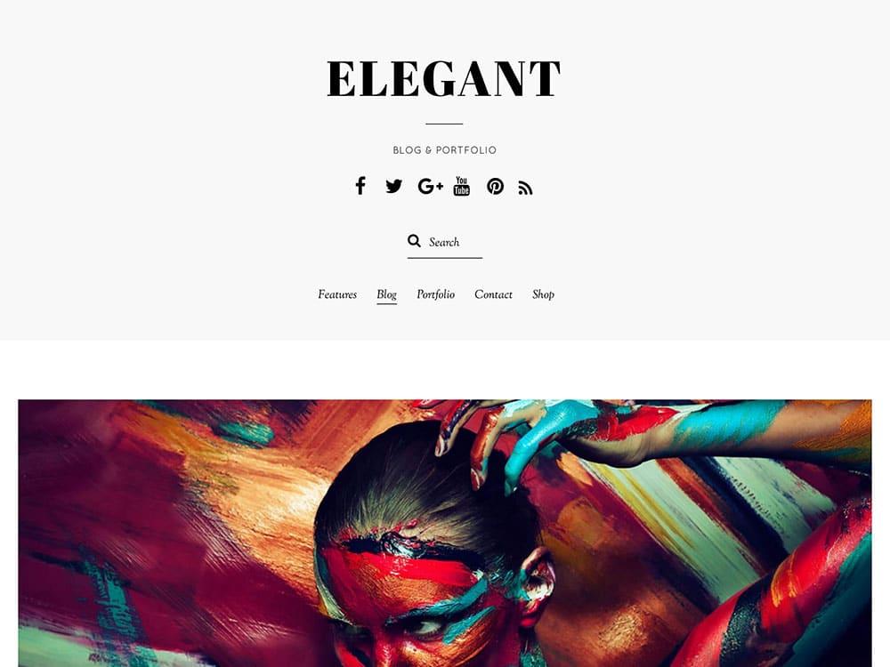 Elegant - 31+ Amazing Artists WordPress Themes [year]