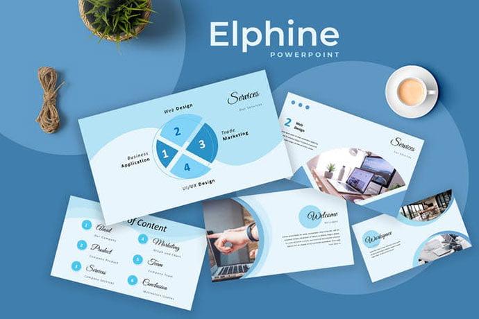 Elphine - 36+ Nice PowerPoint Portfolio Showcasing Templates [year]