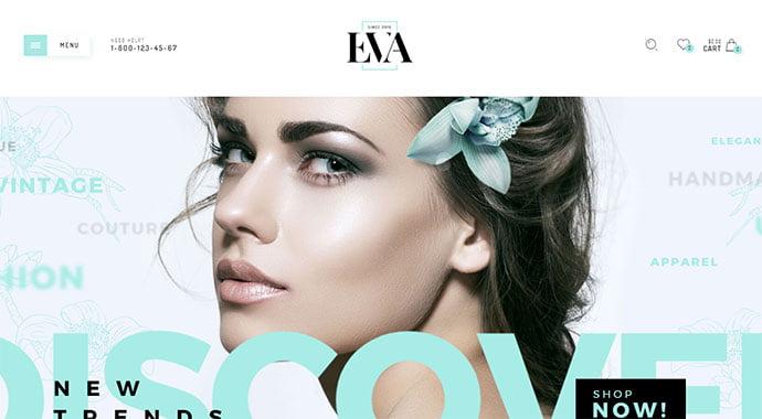 Eva - 34+ Impressive WordPress Minimal eCommerce Themes [year]