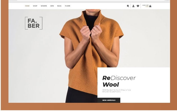 Faber - 51+ Awesome WordPress Lookbook Ecommerce Themes [year]