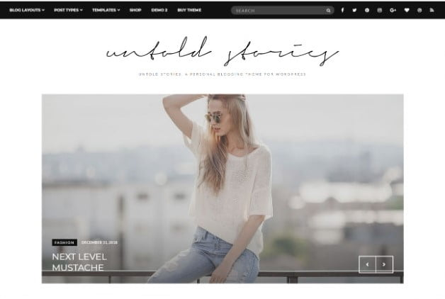 Fashion-Blog-Theme - 37+ Nice WordPress Photography Blog Themes [year]